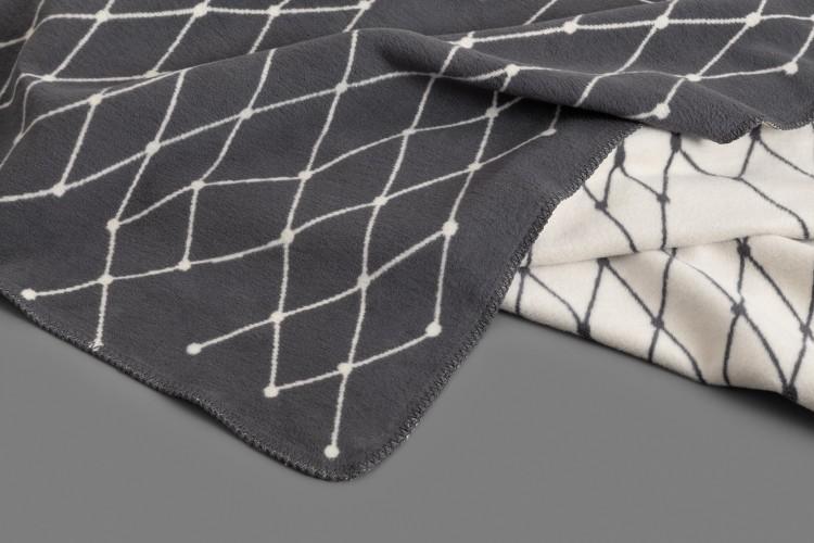 Woven blanket: THE GRID - dark grey