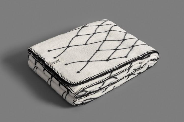 Woven blanket: THE GRID - black
