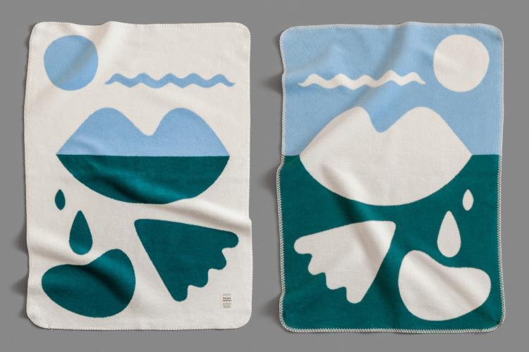 bastisRIKE meets KUMI MOOD: Woven blanket CAPRI kids