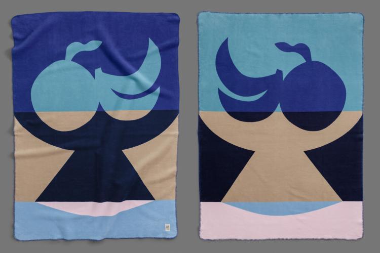 bastisRIKE meets KUMI MOOD: Woven blanket FRUTTI