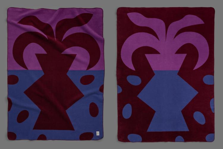 bastisRIKE meets KUMI MOOD: Woven blanket PALMA