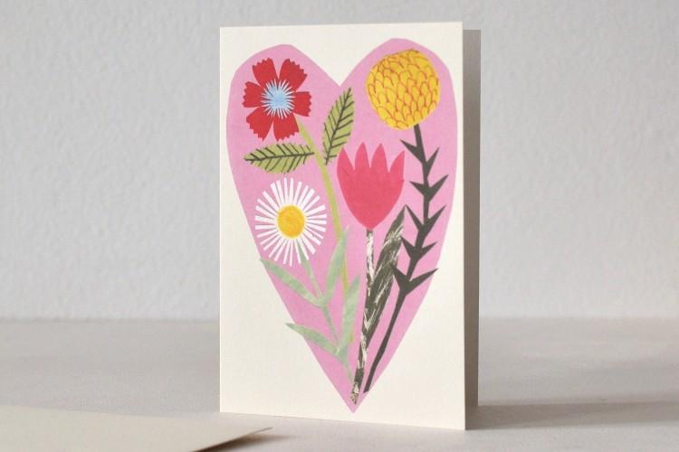 Folded card: FLORAL HEART
