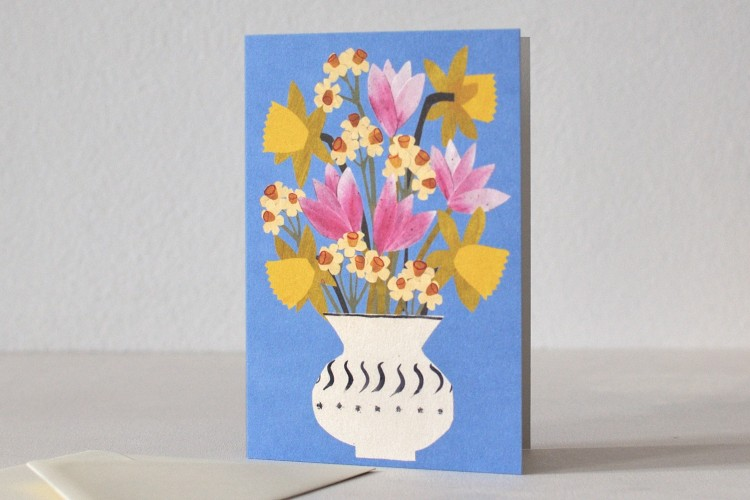 Folded card: SPRING FLOWERS