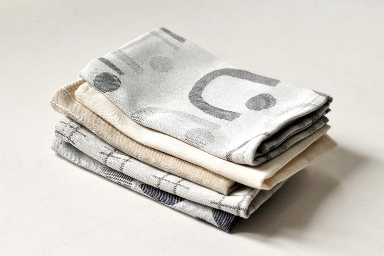 Handkerchief: BELLS, grey