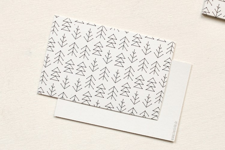 Gift tags: FIR TREES