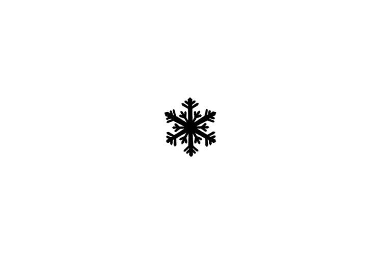 Mini rubber stamp: Snowflake