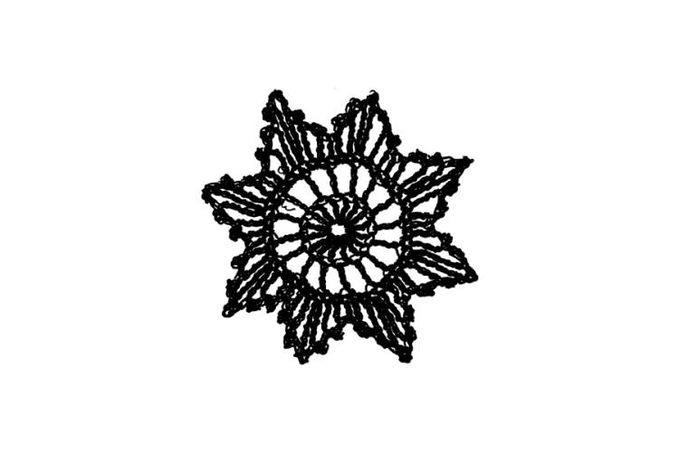 B-STOCK Rubber stamp: chrochet star