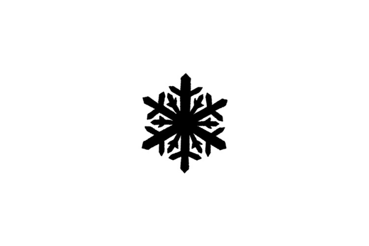 B-STOCK Rubber stamp: snowflake