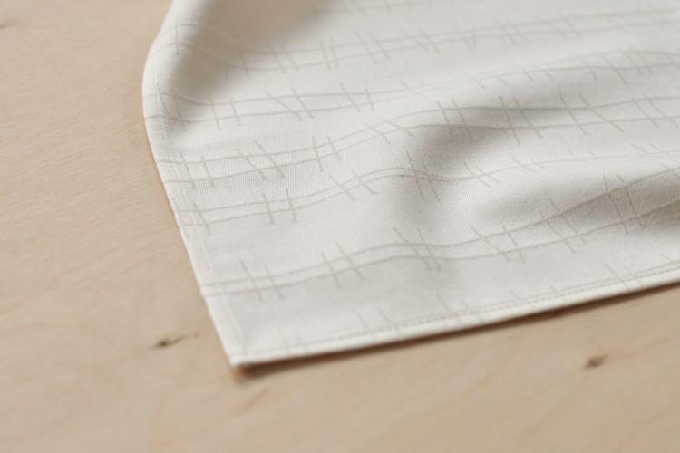 Handkerchief: RAILS, natural white