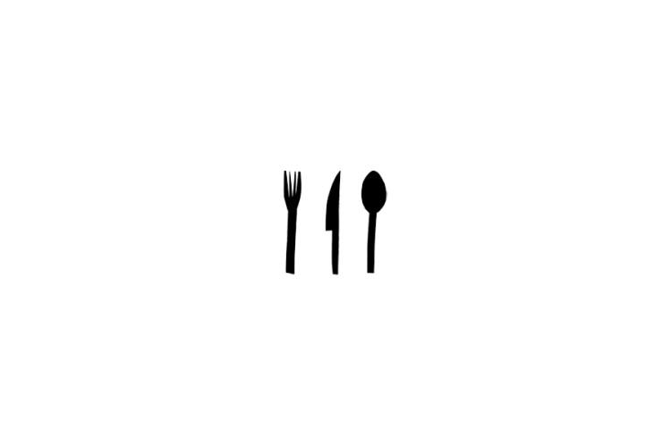 Mini rubber stamp: Cutlery