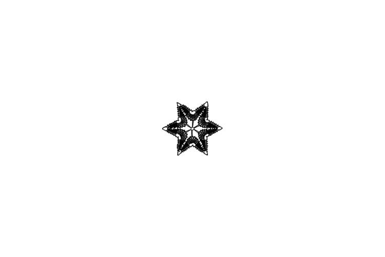 Mini rubber stamp: Star