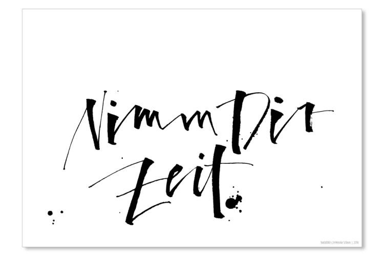 Poster print:  NIMM DIR ZEIT (21 x 29,7 cm)