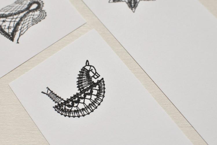 Rubber stamp: Rocking horse