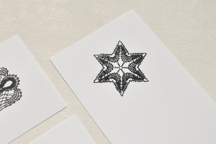 Rubber stamp: Christmas star