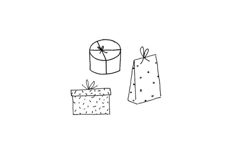 Rubber stamp set: Gifts