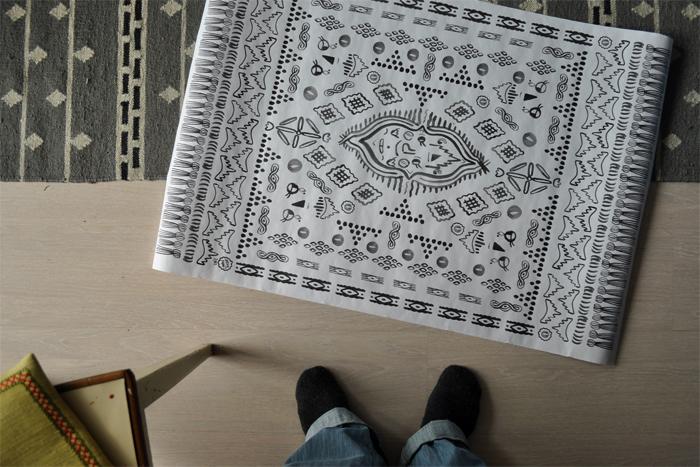 bastisRIKE: ROXI MARJ 'happy rug' POSTER