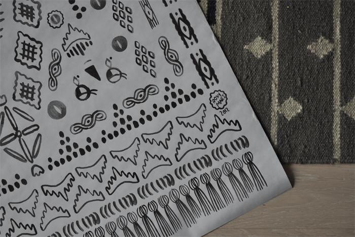 bastisRIKE: ROXI MARJ 'happy rug' POSTER DETAIL