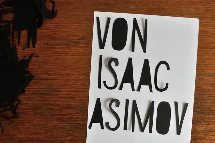 #onepapercutaday: WEEK 02 // Isaac Asimov Die frühe Foundation Trilogie
