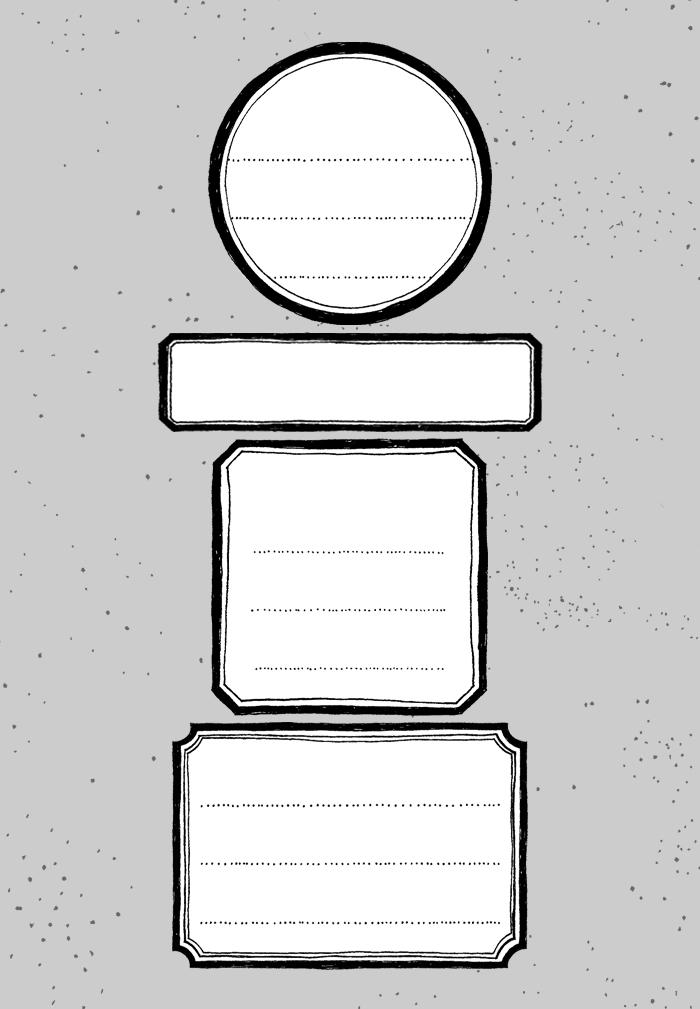 bastisRIKE classic office supplies: Etiketten Stempel