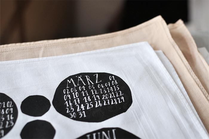 bastisRIKE Siebdruck Textil-Kalender