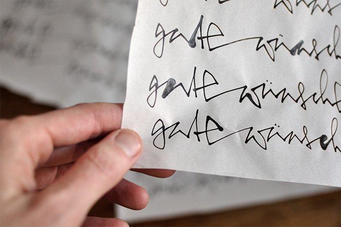 Tuche auf Architektenpapier