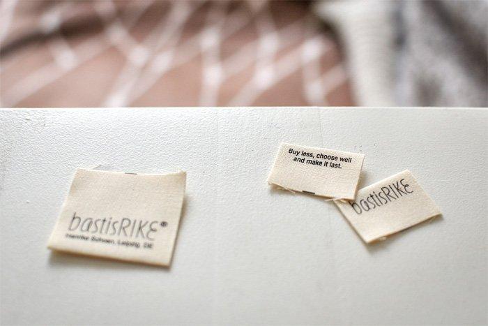 bastisRIKEs Etiketten aus Bio-Baumwolle