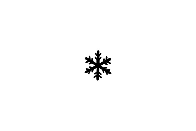 Mini rubber stamp: Snowflake