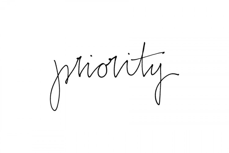 Rubber stamp: priority