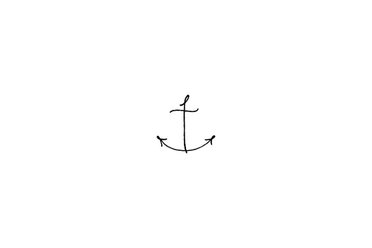 Mini rubber stamp: Anchor