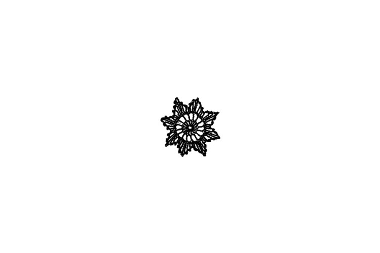 Mini Rubber Stamp: Crocheted Star