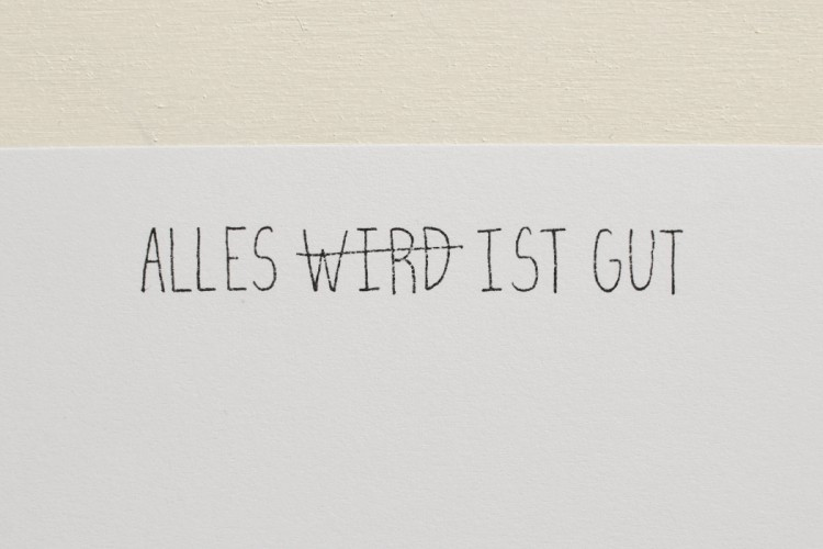 Rubber stamp: ALLES IST GUT