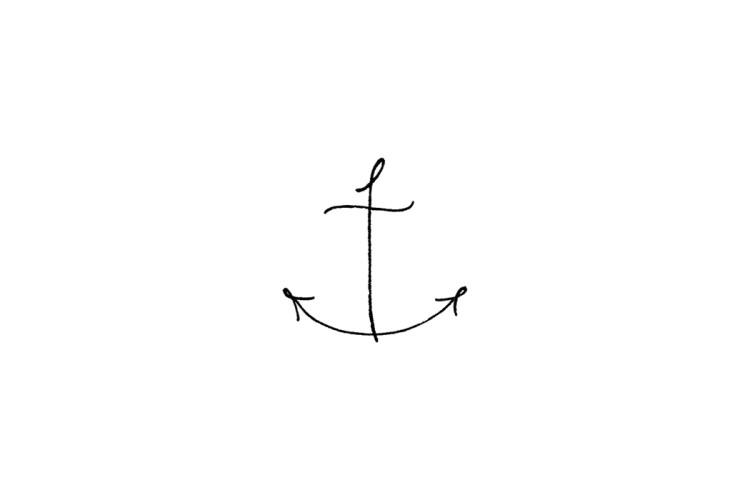 Rubber stamp: Anchor
