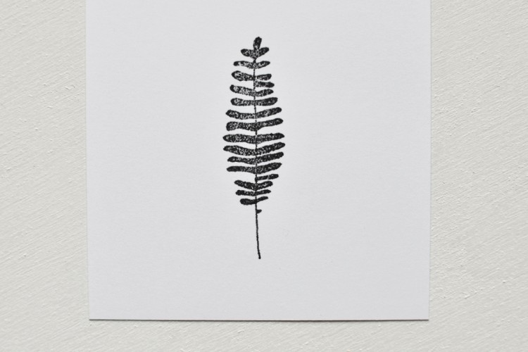 Rubber stamp: Fern 04