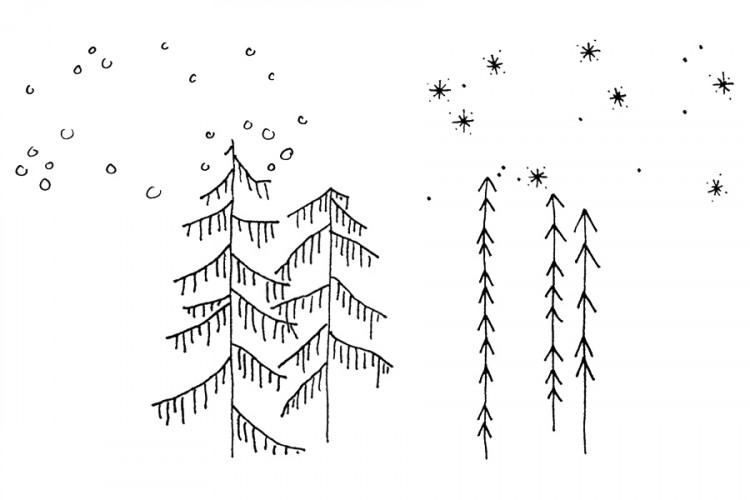 Stempel SET: Winterwald