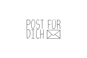 Rubber stamp: POST FÜR DICH